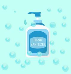 hand sanitizer bottle alcohol bottle for hygiene vector image