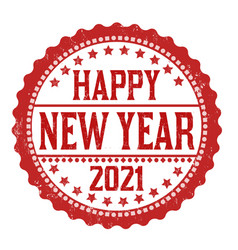 Happy new year 2021 grunge rubber stamp vector