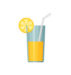 juice glass icon flat icon vector image