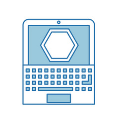 Laptop computer with stop signal vector