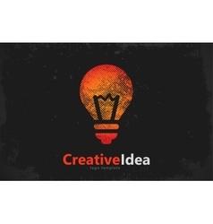 Lightbulb logo template icon abstract vector