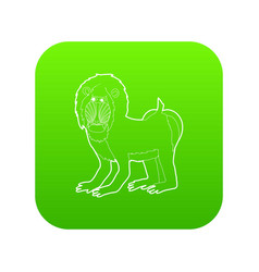Mandrill icon green vector