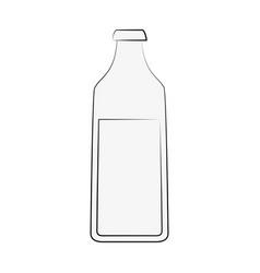 Milk bottle isolated vector