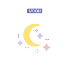 Moon line icon vector