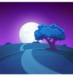 Night Landscape vector