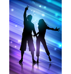 party people on abstract background vector image