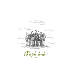 People leader concept hand drawn isolated vector