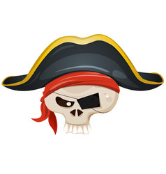 Pirate skull head vector