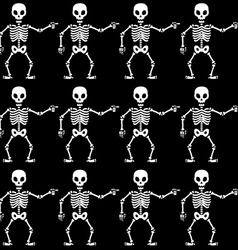 Pointing skeletons pattern vector