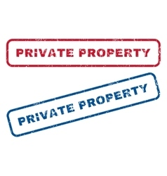 Private Property Rubber Stamps vector