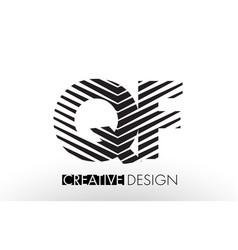 qf q f lines letter design with creative elegant vector image