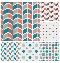 retro style geometric patterns vector image
