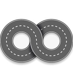 Road in the form of an infinity sign vector