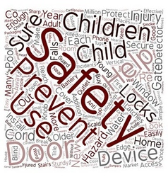 Safety Devices To Protect Your Children text vector image