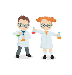 scientist kids scientist kids vector image