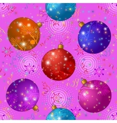 Seamless Background with Christmas Balls vector image