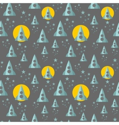 Seamless pattern with rocket in the space vector image