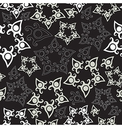 Seamless pattern with stars floral background vector image