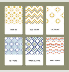 Set of perfect wedding templates vector