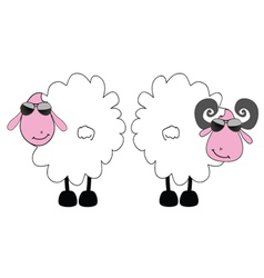 sheep and ram cartoon art vector image