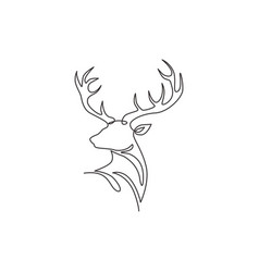 Single continuous line drawing elegance head vector