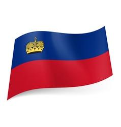 State flag of Liechtenstein vector