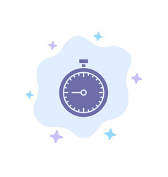stopwatch clock fast quick time timer watch blue vector image