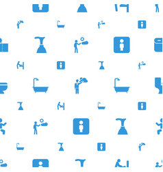 Toilet icons pattern seamless white background vector