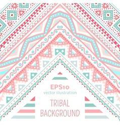 Tribal ethnic corner pattern vector