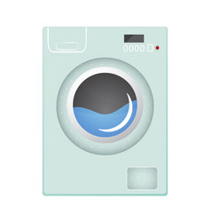 washing machine flat style vector image