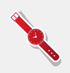 watch sign new year reddish vector image
