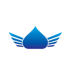 Waterdrop wings logo image vector