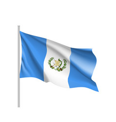 waving flag of guatemala vector image