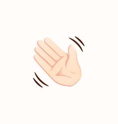 waving hand icon hand gesture emoji vector image