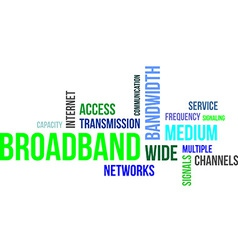Word cloud broadband vector