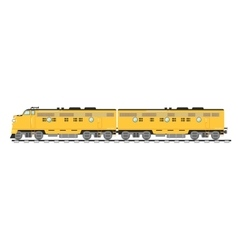 Yellow freight train isolated on white background vector image