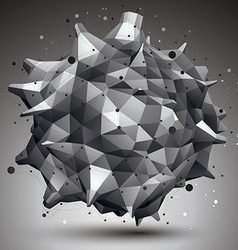 Abstract asymmetric monochrome object with black vector image vector image