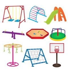 Equipment in Children Playground vector image
