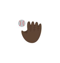 flat baseball element of flat vector image