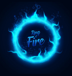 ring of fairy blue underwater fire with vector image