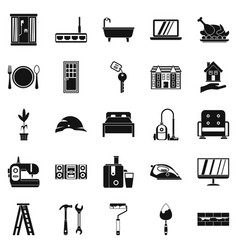 sanitary engineering icons set simple style vector image vector image