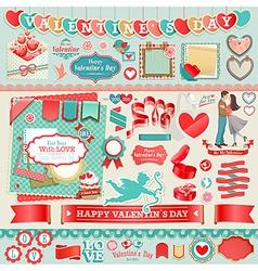 valentine scrapbook vector image vector image