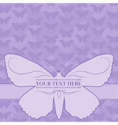 vector butterfly card vector image