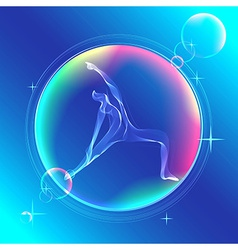 Yoga pose Abstract color vector image