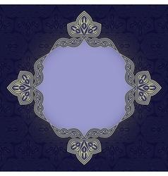 Blue patterned background vector image vector image