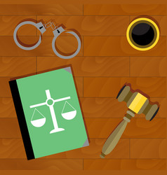 justice is top view vector image vector image