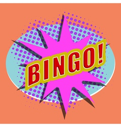 Cartoon BINGO Design element for the site vector image