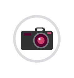 digital photo camera icon isolated vector image