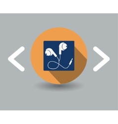 earphone icon vector image vector image