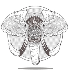 elephant art vector image vector image